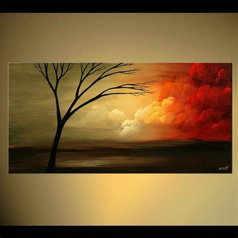 acrylic painting ideas trees abstract landscape contemporary acrylic tree painting by