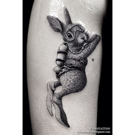 diving bunny tattoo best tattoo ideas gallery