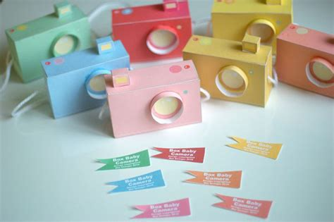 free paper crafts printable paper craft pastel cameras
