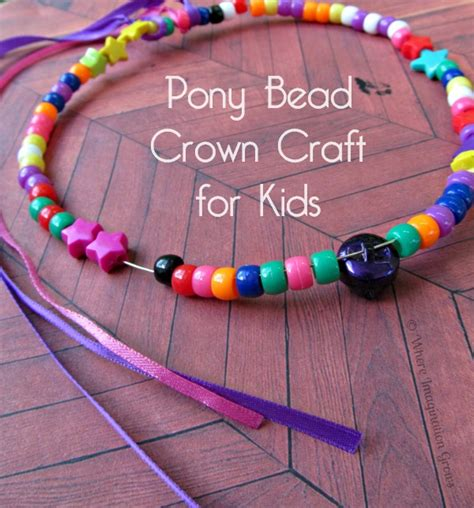 pony bead crafts for easy pony bead crown craft for where imagination