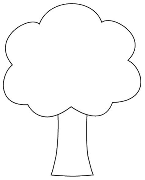 tree color in tree outline printable cliparts co