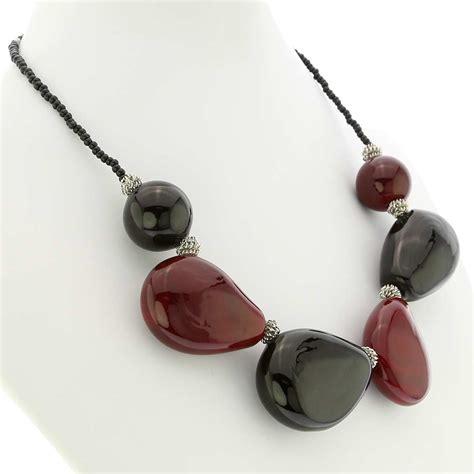 jewelry glass murano necklaces vesuvio murano glass necklace and