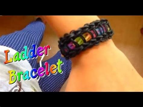 how to make a ladder bracelet with how to make a rainbow loom ladder bracelet easy
