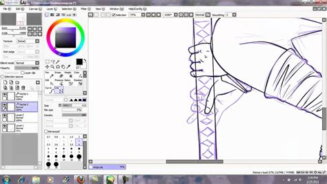how to paint tool sai 2016 line drawing tutorial for paint tool sai