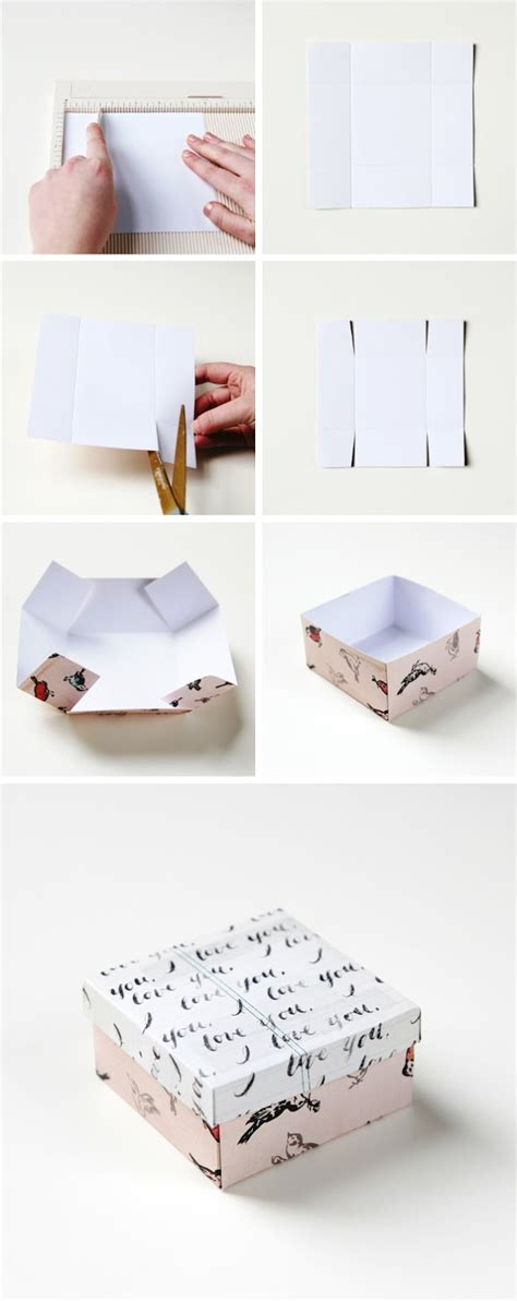 how to make a gift box out of card simple diy gift box gathering