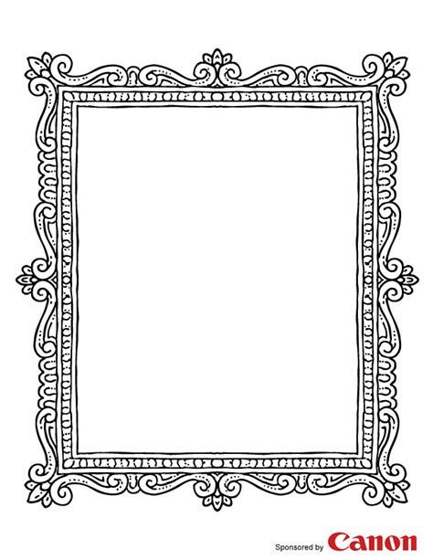 frame 2 free printable coloring pages