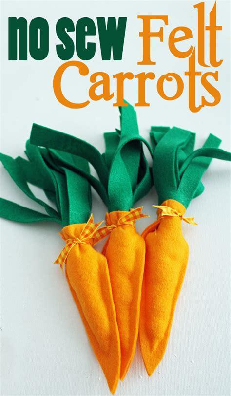 No Sew Felt Carrot 30 Minute Crafts