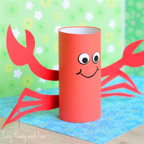 paper rolling craft ideas paper roll crab craft easy peasy and