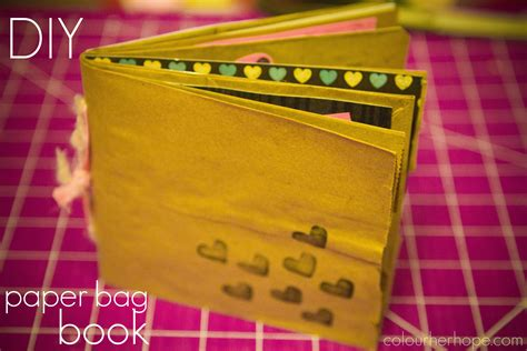 paper craft using books diy paper bag book colour