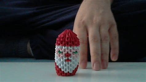 make origami santa claus how to make 3d origami santa claus