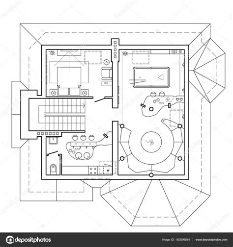 house with attic floor plan house with attic floor plan