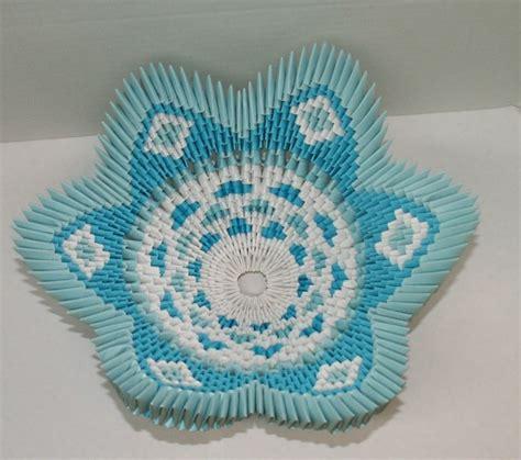 3d origami bowl blue bowl album heidi lenney 3d origami