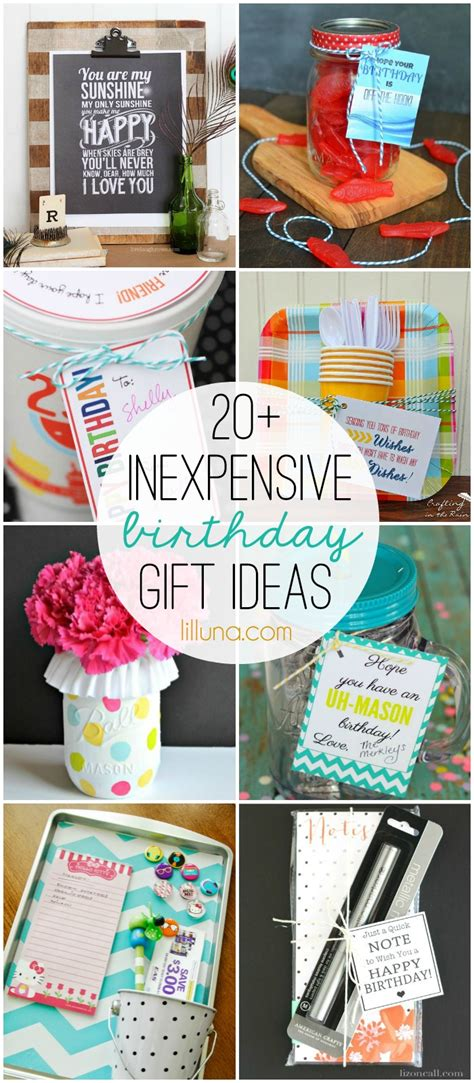 ideas for inexpensive inexpensive birthday gift ideas