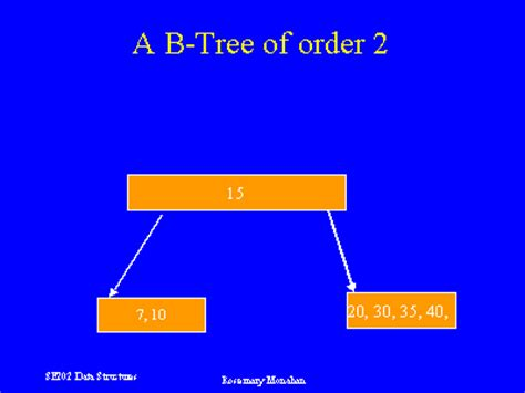 order a tree a b tree of order 2
