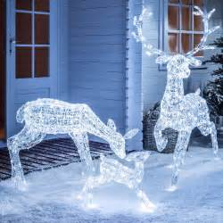 reindeer outdoor lights light up led sparkly reindeer indoor outdoor