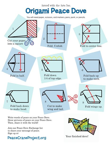 origami peace dove peace dove activity paz