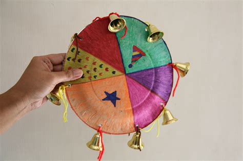how to make paper and craft how to create a paper plate tambourine 7 steps with