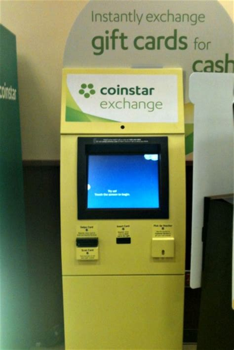gift card machine turn gift cards into with coinstar exchange kiosks