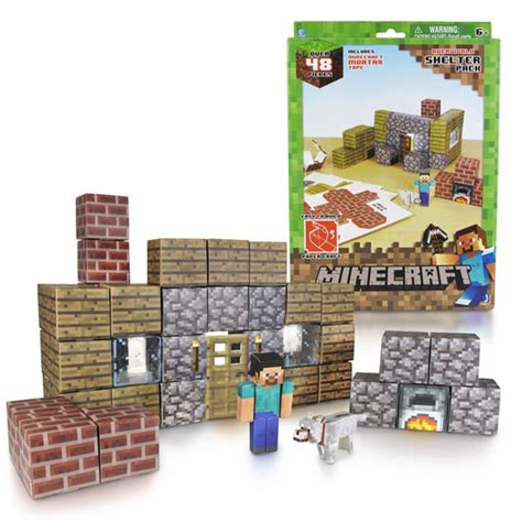 craft sets for minecraft papercraft shelter set