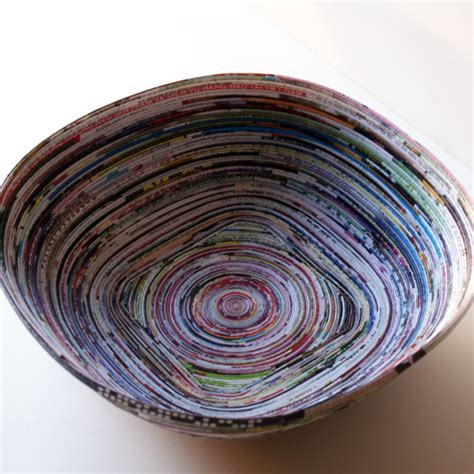 magazine paper crafts how to recycle magazines into bowl