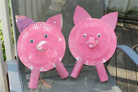 pig paper plate craft a bunch of paper plate pig