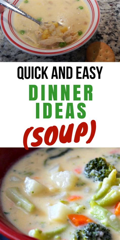 soup kitchen meal ideas and easy dinner ideas soup