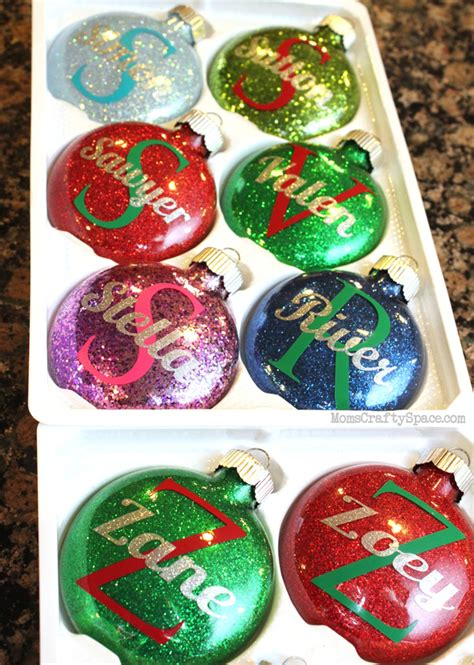 decorations personalized personalized glitter ornaments happiness is