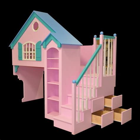 doll house loft bunk bed dollhouse loft bed themed beds by tanglewood design