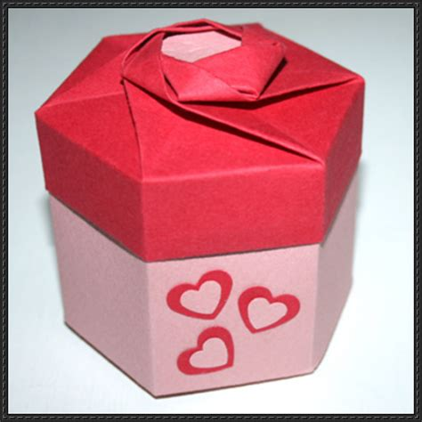 hexagonal origami gift box how to fold a hexagonal origami gift box