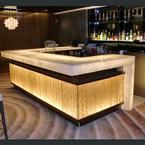 home bar counter sale modern design solid surface acrylic led effect