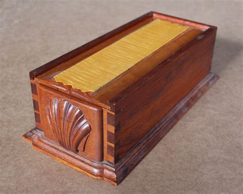 allan breed woodworking sliding lid box with shell woodworking plan allan breed