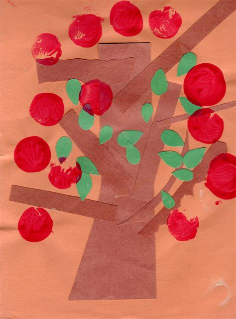 tree preschool craft preschool crafts for easy apple tree paper craft