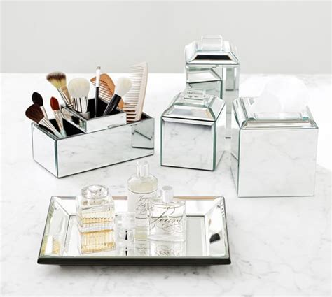 pottery bathroom accessories mirrored bath accessories pottery barn