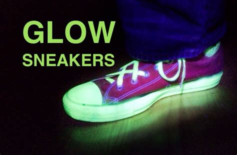 glow in the paint dries clear glow sneakers