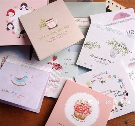greeting card supplies korean children s day greeting card blessing small fresh