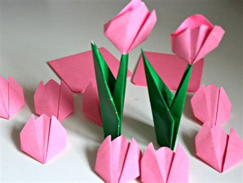 origami flowers tulip 50 awesome and easy craft ideas for