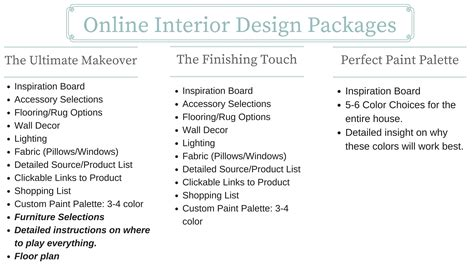 interior design service design services