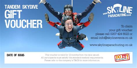 skyline skydiving and parachuting gift vouchers across the uk