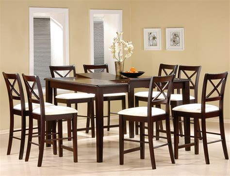 dining room counter height sets cappuccino finish counter height dining room set counter
