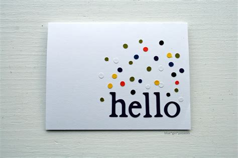 simple greeting card blue presents blue presents