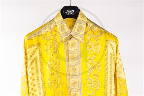 United Luggage Size gianni versace classic v2 silk shirt yellow gold sammy