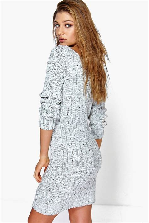 knitted dresses cable knit mini dress