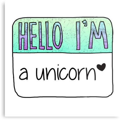 Name Wall Stickers quot hello i m a unicorn quot metal prints by poppetini redbubble