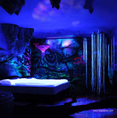 how to paint your room glow in the when the lights go out my glowing murals turn these rooms