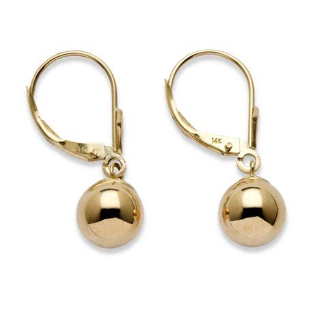 14k gold for jewelry palmbeach jewelry drop earrings in 14k yellow gold ebay