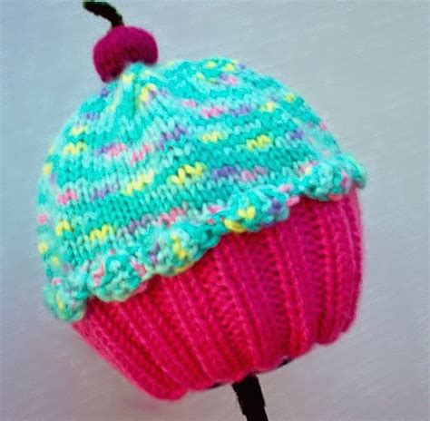 cupcake knitted hat pattern free cupcake hat