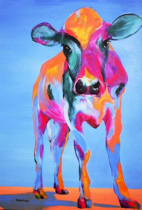 acrylic painting ideas animals best 25 cow painting ideas on cow drawing