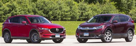 Honda Vs Mazda Suv by Suv Honda Cr V Vs Mazda Cx 5 Consumer Reports