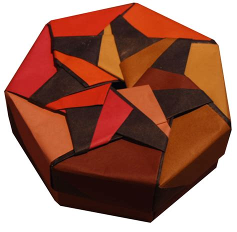 origami containers heptagonal origami box folding