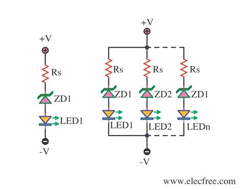 Bright Led Lights by 4 Led Voltage Indicator Circuits Eleccircuit Com